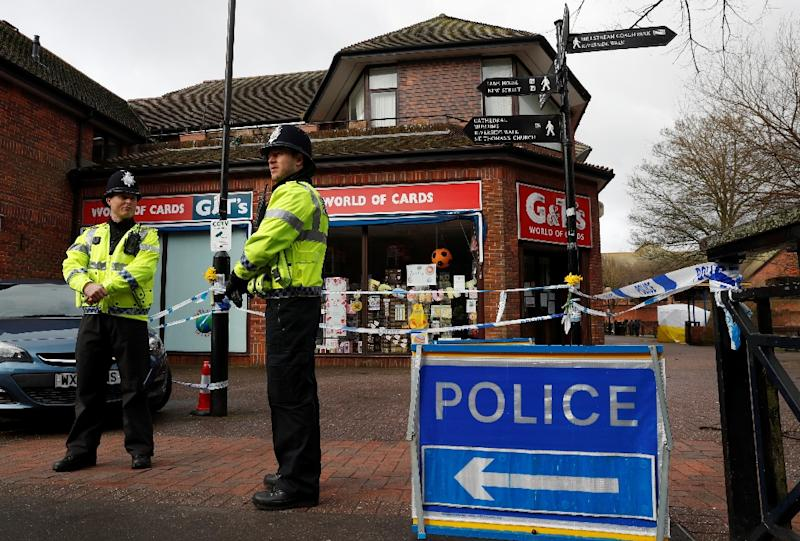 Britain, the United States and other allies have accused Russia of involvement in an attack using the nerve agent Novichok against a former Russian double agent and his daughter in March 2018 in Salisbury, England (AFP Photo/Adrian DENNIS)