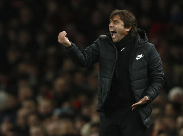"Antonio Conte called <a class=""link rapid-noclick-resp"" href=""/soccer/teams/chelsea/"" data-ylk=""slk:Chelsea"">Chelsea</a> an ""austerity program"" as part of a postgame rant following the draw against <a class=""link rapid-noclick-resp"" href=""/soccer/teams/arsenal/"" data-ylk=""slk:Arsenal"">Arsenal</a>. (EFE)"