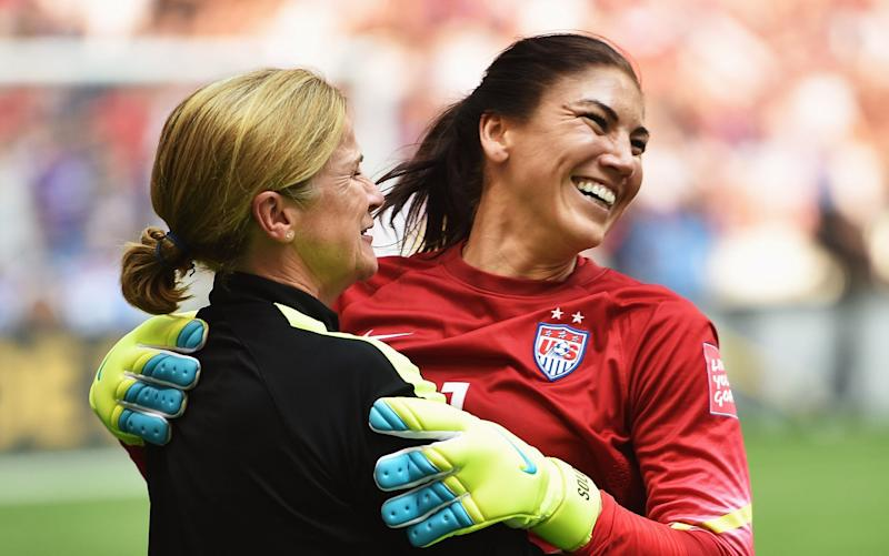 Jill Ellis and Hope Solo had a good relationship while Hope Solo was still with the USWNT, but Solo disagreed with some of Ellis' methods. (Getty)