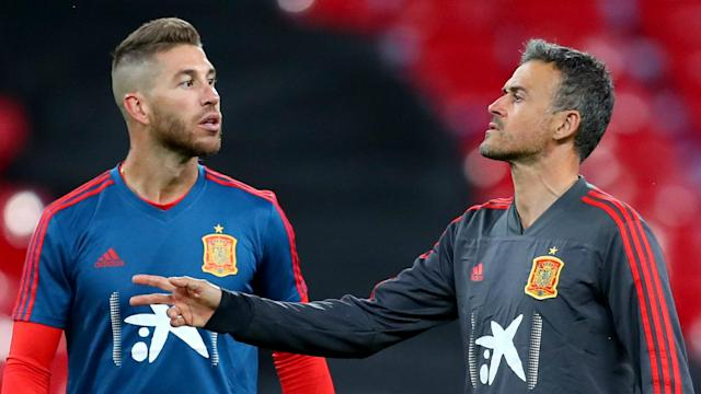 Luis Enrique has decided to step away from his role as Spain boss, and La Roja captain Sergio Ramos paid tribute to his former coach.