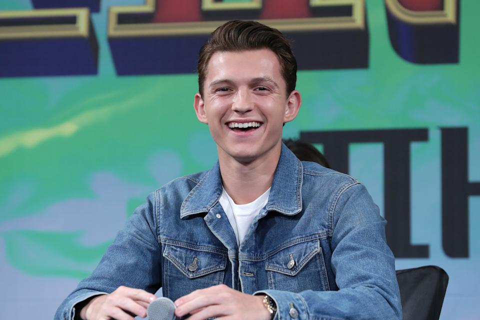 Tom Holland attends a press conference for 'Spider-Man: Far From Home' on July 01, 2019. (Photo by Han Myung-Gu/WireImage)