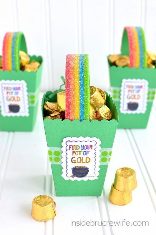 """<p>The colorful boxes make <a href=""""https://www.womansday.com/life/g430/kids-easter-basket-gift-ideas-66312/"""" rel=""""nofollow noopener"""" target=""""_blank"""" data-ylk=""""slk:lovely gifts for classmates"""" class=""""link rapid-noclick-resp"""">lovely gifts for classmates</a> and teachers. Going green has never been this fun!</p><p><em>Get the tutorial at <a href=""""http://insidebrucrewlife.com/2013/02/st-patricks-day-boxes/#_a5y_p=3391528"""" rel=""""nofollow noopener"""" target=""""_blank"""" data-ylk=""""slk:Inside BruCru Life"""" class=""""link rapid-noclick-resp"""">Inside BruCru Life</a>.</em> </p>"""