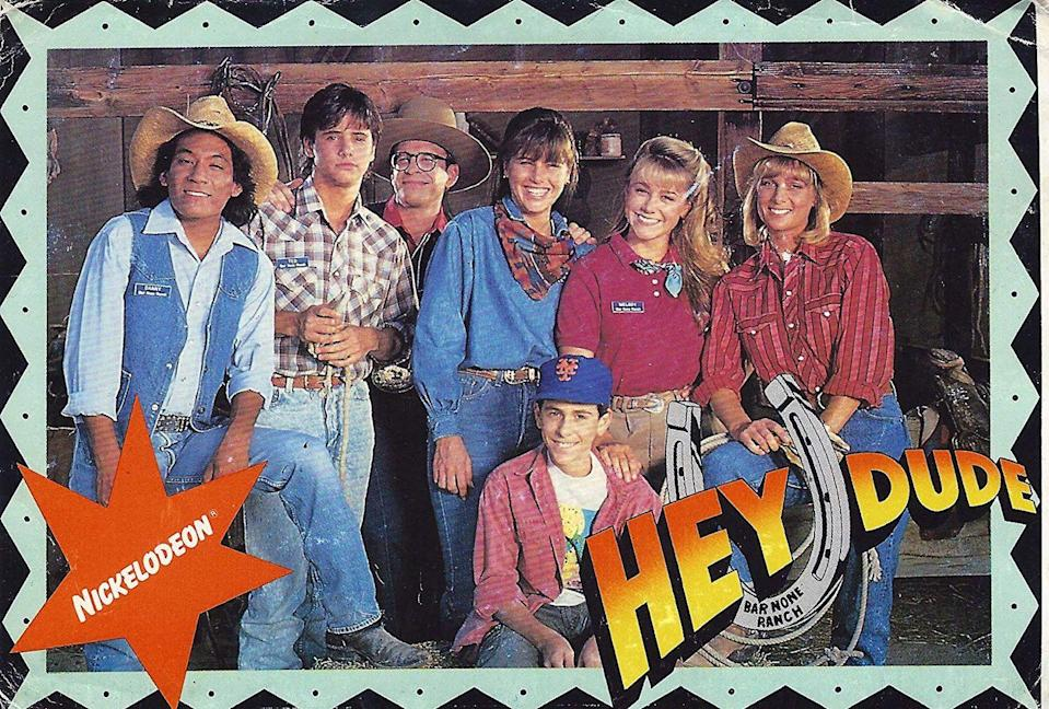 """<p>Just a casual teen Western comedy that was exactly as weird as you'd expect it to be! Not sure why Nickelodeon canceled it after five seasons, but the fact that it's not available to stream on Netflix is a crime. </p><p><a class=""""link rapid-noclick-resp"""" href=""""https://www.amazon.com/Day-One-at-Bar-None/dp/B003U9AJ9K/ref=sr_1_1?crid=39FH9MC7QOJ5&keywords=hey+dude+tv+show&qid=1562093151&s=instant-video&sprefix=hey+dude%2Cinstant-video%2C125&sr=1-1&tag=syn-yahoo-20&ascsubtag=%5Bartid%7C10063.g.34770662%5Bsrc%7Cyahoo-us"""" rel=""""nofollow noopener"""" target=""""_blank"""" data-ylk=""""slk:Watch Now"""">Watch Now</a></p>"""