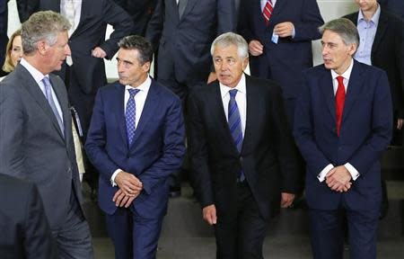 Leaders at NATO defence ministers' meeting in Brussels