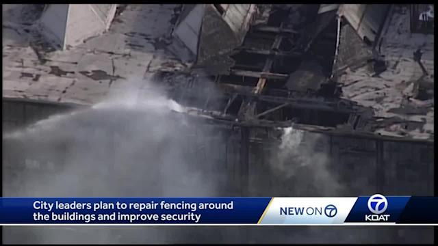 City leaders plan to fencing around Rail Yards following fire