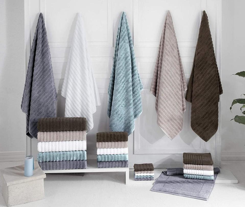 <p>The <span>Classic Turkish Towels 3 Piece Luxury Bath Sheet Set</span> ($60) comes in five colors and with three large towels. Each towel is ultraplush and made from 100 percent Turkish cotton.</p>