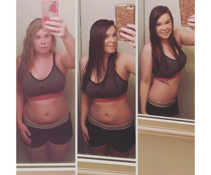 kim before and after weight loss instagram
