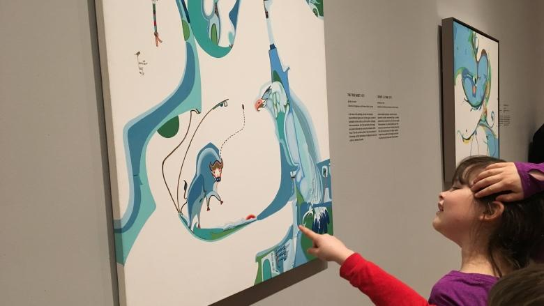 Gallery team's skills stretched to mount stunning Alex Janvier exhibit