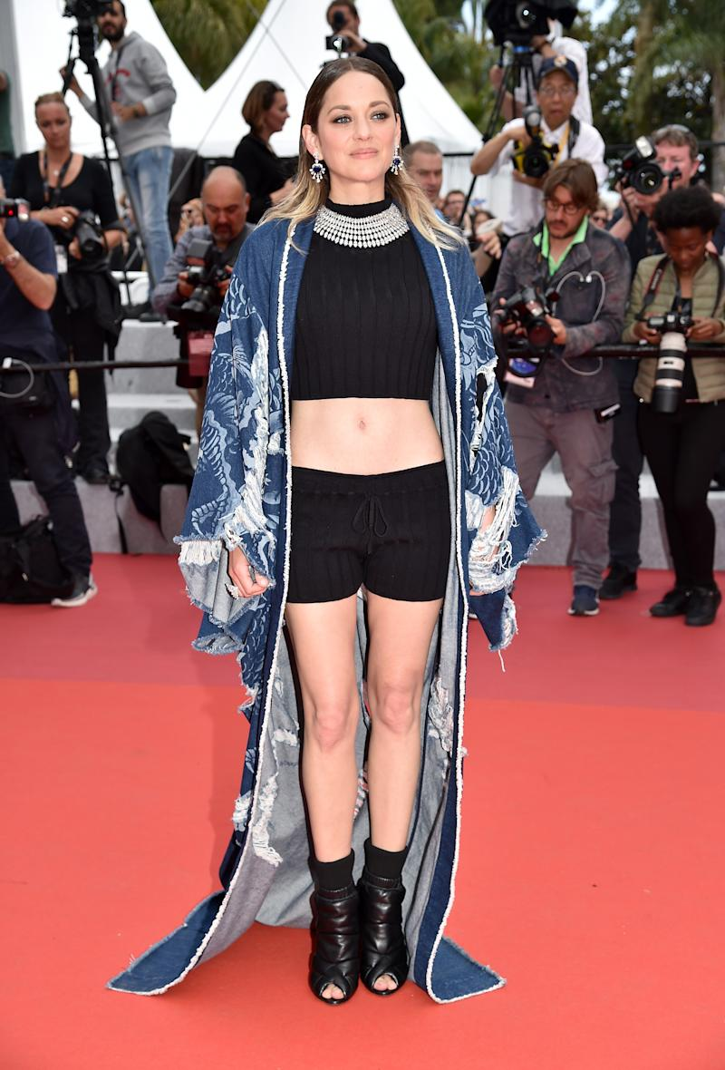 Marion Cotillard Transformed the Cannes Red Carpet With Shorts and a Crop Top