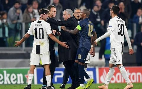 Mourinho in trouble on gaga - Credit: GETTY IMAGES