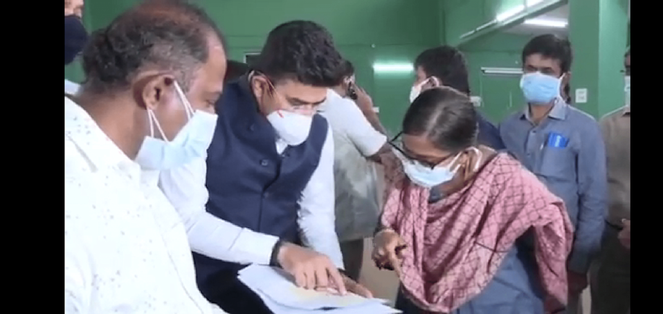 Screengrab of the video in which MP Tejasvi Surya was found reading out from a list.