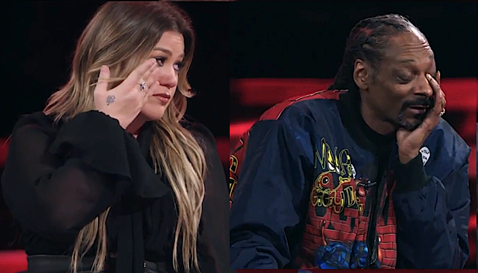 Kelly Clarkson and Snoop Dogg on night one of 'The Voice' Season 20 Knockout Rounds. (Photos: NBC)