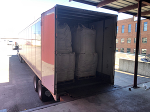 Shipment of approximately 18,491 lb / 8,387 kg of biomass to be processed for Beyond Tobacco™ base material for Taat