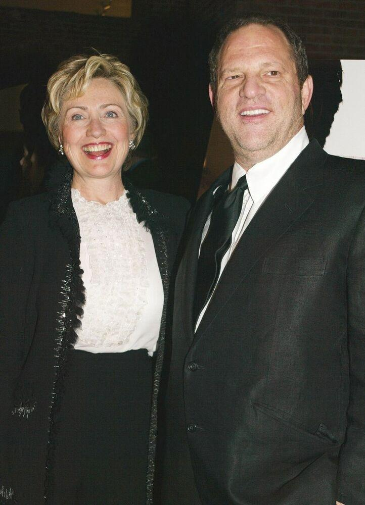 From left: Hillary Clinton and Harvey Weinstein in 2004 | Sylvain Gaboury/FilmMagic