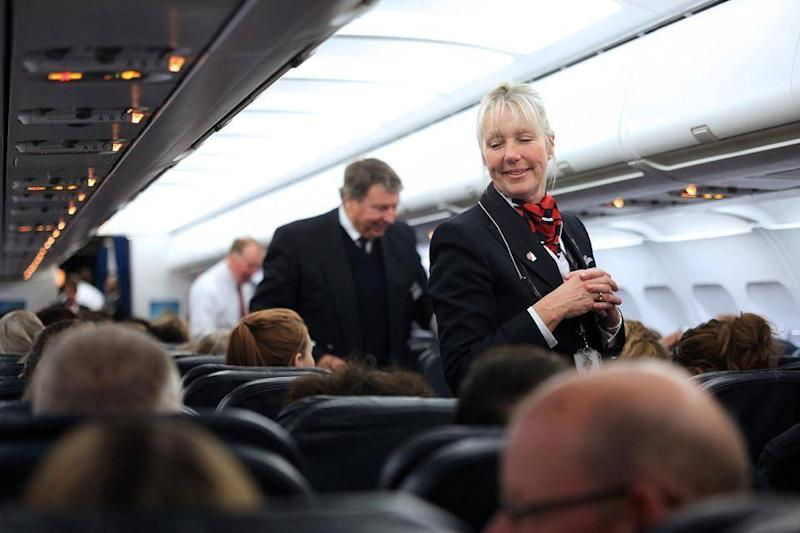 The cabin crew are trained professionals, who are there to answer any questions you may have