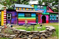 """<div class=""""caption-credit""""> Photo by: The Flying Tortoise</div><div class=""""caption-title"""">Living in a Rainbow</div>Katwise owns this wonderfully colorful home. I wonder how long it took to paint. <br>"""