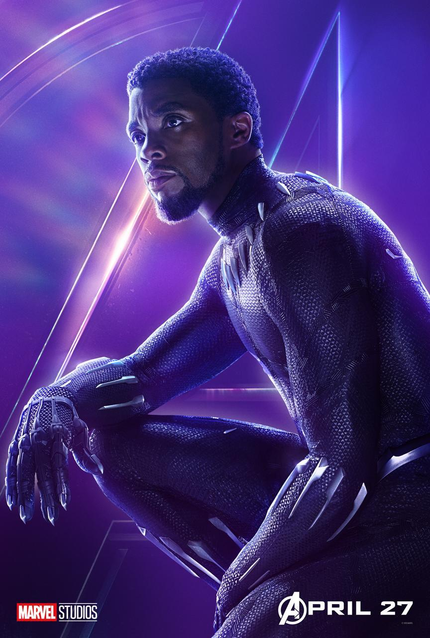 <p>Fresh off his blockbuster solo debut, Chadwick Boseman's T'Challa joins up with the Avengers to save the universe. (Photo: Marvel Studios) </p>