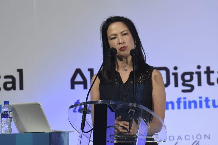 Mi-Ai Parrish, an executive at USA Today Network, speaking in Mexico City, July 15, 2016. (Photo: Carlos Tischler/Rex Shutterstock via ZUMA Press)