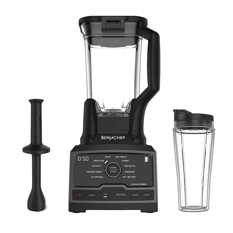 """<p>There are so many settings on this cool <a href=""""https://www.popsugar.com/buy/Ninja-CT810-Chef-High-Speed-Premium-Home-Blender-513523?p_name=Ninja%20CT810%20Chef%20High-Speed%20Premium%20In%20Home%20Blender&retailer=amazon.com&pid=513523&price=189&evar1=fit%3Aus&evar9=46866669&evar98=https%3A%2F%2Fwww.popsugar.com%2Ffitness%2Fphoto-gallery%2F46866669%2Fimage%2F46866721%2FFor-Those-Looking-For-All-in-One-Blender&list1=shopping%2Camazon%2Ckitchen%20tools%2Csmoothies&prop13=api&pdata=1"""" class=""""link rapid-noclick-resp"""" rel=""""nofollow noopener"""" target=""""_blank"""" data-ylk=""""slk:Ninja CT810 Chef High-Speed Premium In Home Blender"""">Ninja CT810 Chef High-Speed Premium In Home Blender</a> ($189, originally $200).</p>"""