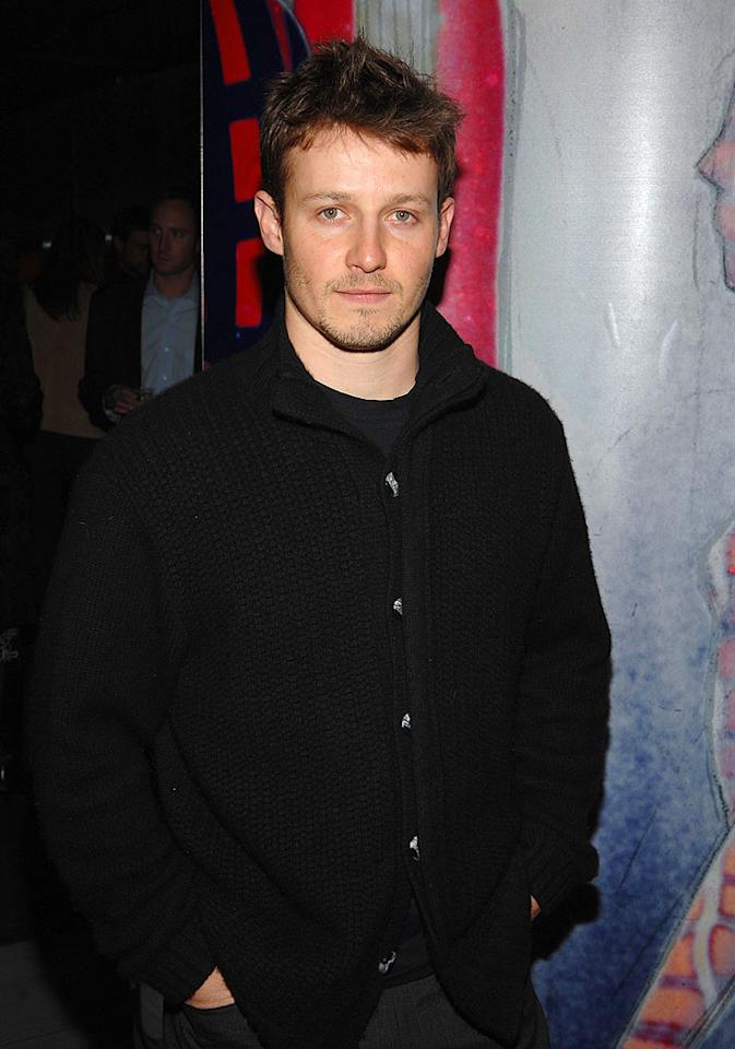 "Will Estes (""American Dreams"") keeps it casual in a cardigan, gray slacks, and his trademark scruff. John Shearer/<a href=""http://www.wireimage.com"" target=""new"">WireImage.com</a> - March 19, 2008"