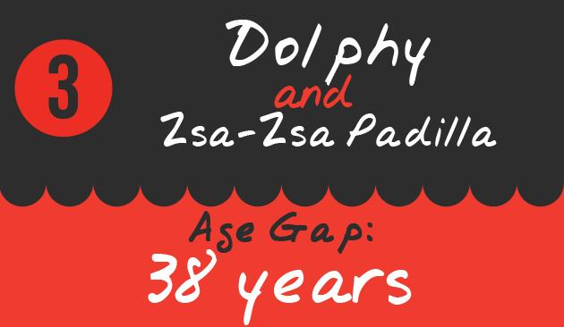3. Dolphy and Zsa-Zsa Padilla, Age Gap: 38 years