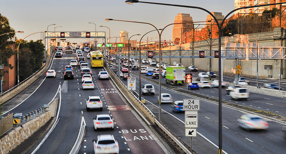 Trying to avoid traffic by ducking into a bus lane could cost you a hefty fine. Source: Getty Images