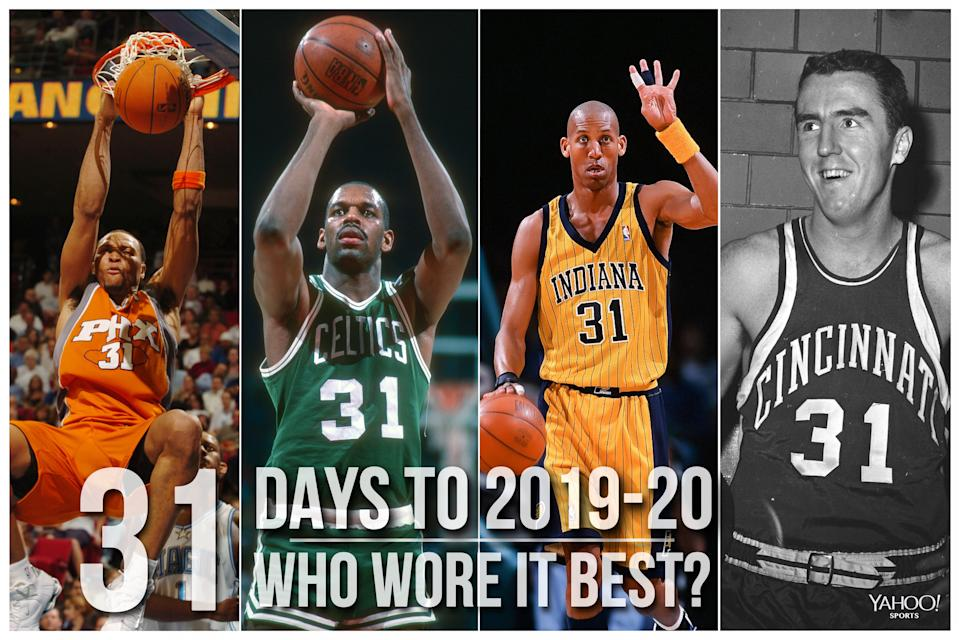 Which NBA player wore No. 31 best?