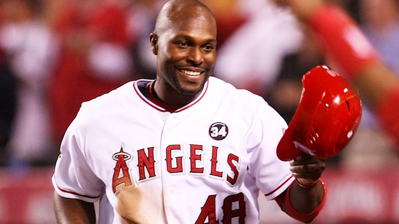 Torii Hunter, pictured here in action for the Los Angeles Angels in 2009.
