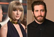 """<p><strong>When:</strong> October 2010 - January 2011</p> <p>Jake and Taylor began <a href=""""https://www.popsugar.com/celebrity/Pictures-Jake-Gyllenhaal-Taylor-Swift-Driving-Together-LA-12518021"""" class=""""link rapid-noclick-resp"""" rel=""""nofollow noopener"""" target=""""_blank"""" data-ylk=""""slk:quietly dating"""">quietly dating</a> and sharing maple lattes together in the fall of 2010, and it was rumored Jake was so enchanted by her that <a href=""""http://www.marieclaire.co.uk/news/celebrity/507226/jake-gyllenhaal-s-160-000-taylor-swift-date.html"""" class=""""link rapid-noclick-resp"""" rel=""""nofollow noopener"""" target=""""_blank"""" data-ylk=""""slk:he dropped $160,000"""">he dropped $160,000</a> just so he could fly her in on a private jet for a date. Talk about getting bit by the love bug, huh?</p> <p>By New Year's Eve, however, Jake and Taylor had <a href=""""https://www.popsugar.com/celebrity/Jake-Gyllenhaal-Taylor-Swift-Break-Up-13094700"""" class=""""link rapid-noclick-resp"""" rel=""""nofollow noopener"""" target=""""_blank"""" data-ylk=""""slk:gone their separate ways"""">gone their separate ways</a>. Tay got all of her emotions about their relationship out in """"All Too Well,"""" with lyrics like, """"Oh, your sweet disposition and my wide-eyed gaze / We're singing in the car, getting lost upstate / The Autumn leaves falling down like pieces into place, and I can picture it after all these days."""" Seeing as how <a href=""""http://www.huffingtonpost.com/2012/11/19/taylor-swift-jake-gyllenhaal-all-too-well-about-actor_n_2158757.html"""" class=""""link rapid-noclick-resp"""" rel=""""nofollow noopener"""" target=""""_blank"""" data-ylk=""""slk:their famous stroll in NYC"""">their famous stroll in NYC</a> happened in the fall, it's safe to say that song is probably about him.</p>"""