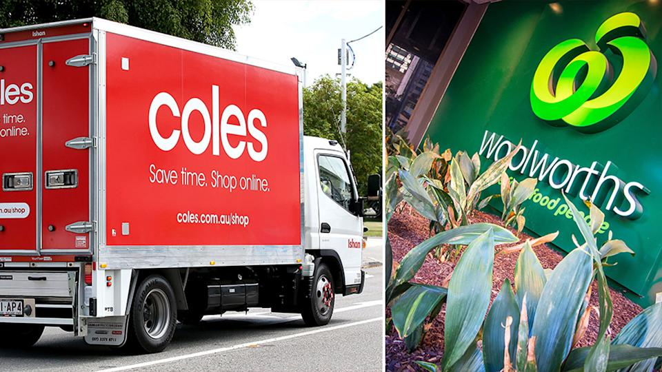 Coles and Woolworths customers may experience stock shortages due to the NSW floods. Source: AAP/Getty Images