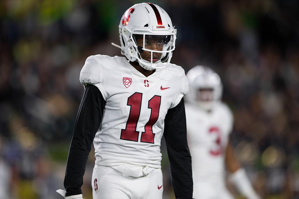 Stanford CB Paulson Adebo has exactly what NFL teams are seeking in a cover man. (Getty Images)