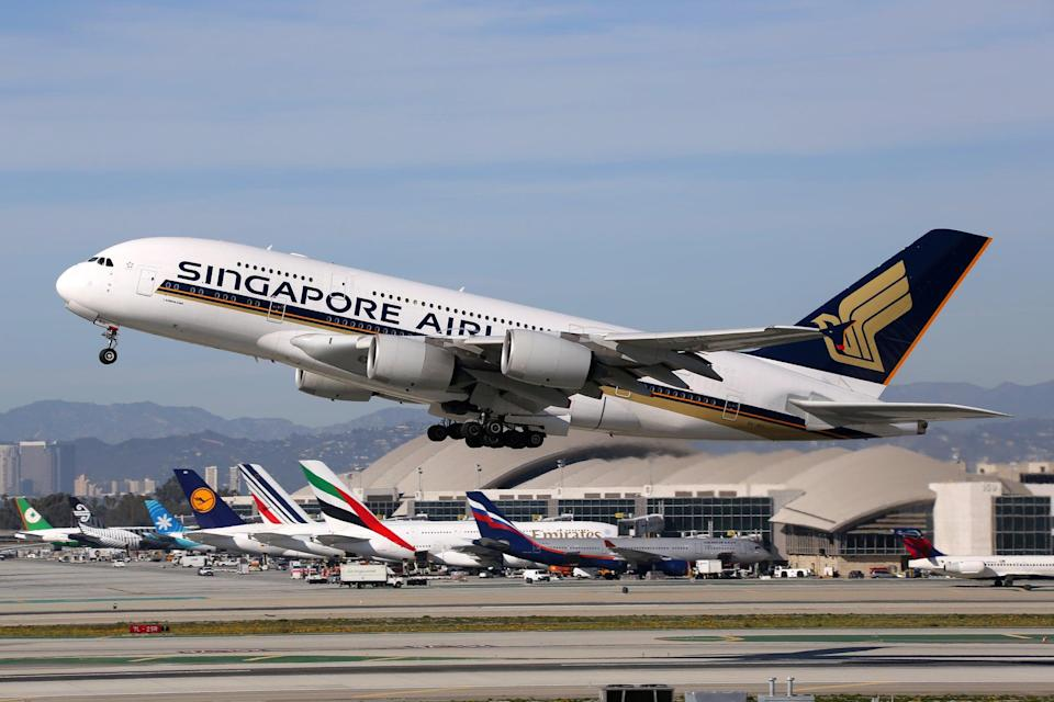 Singapore Airlines is using one of its grounded aircraft as a restaurant (Getty Images/Boarding1Now)