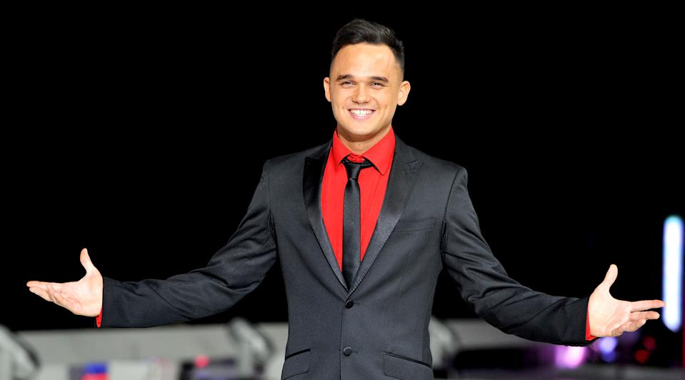 Gareth Gates attends a photocall to launch the final tour of Torvill & Dean's Dancing On Ice at Phones 4 U Arena on March 27, 2014 in Manchester, England.  (Photo by Shirlaine Forrest/WireImage)