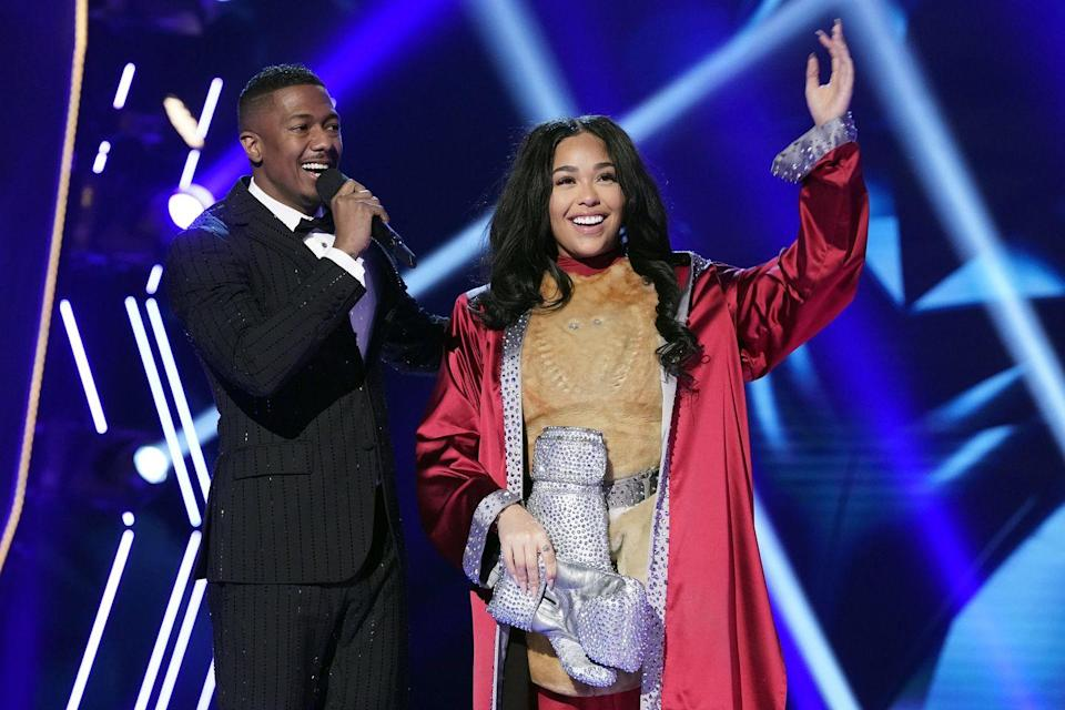 """<p>After the second face-off, the contestant with the lowest score is eliminated and, as the Who song """"Who Are You"""" plays in the background, their identity is finally revealed.</p>"""
