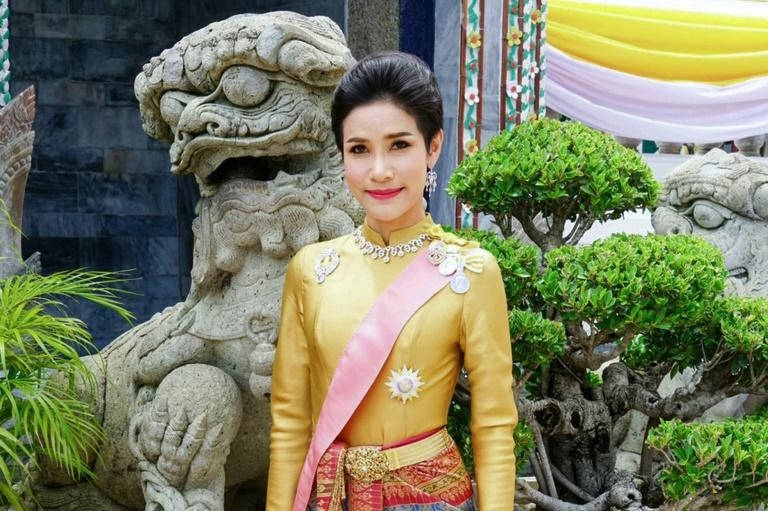 In August, 2019 the Thai royal palace issued a series of photographs of Sineenat Wongvajirapakdi announcing her appointment as royal consort (AFP Photo/Handout)