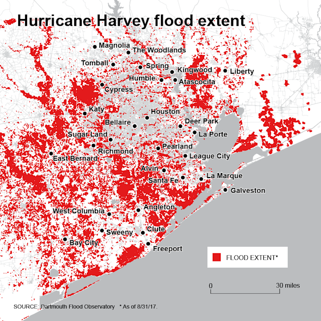 Harvey flood map
