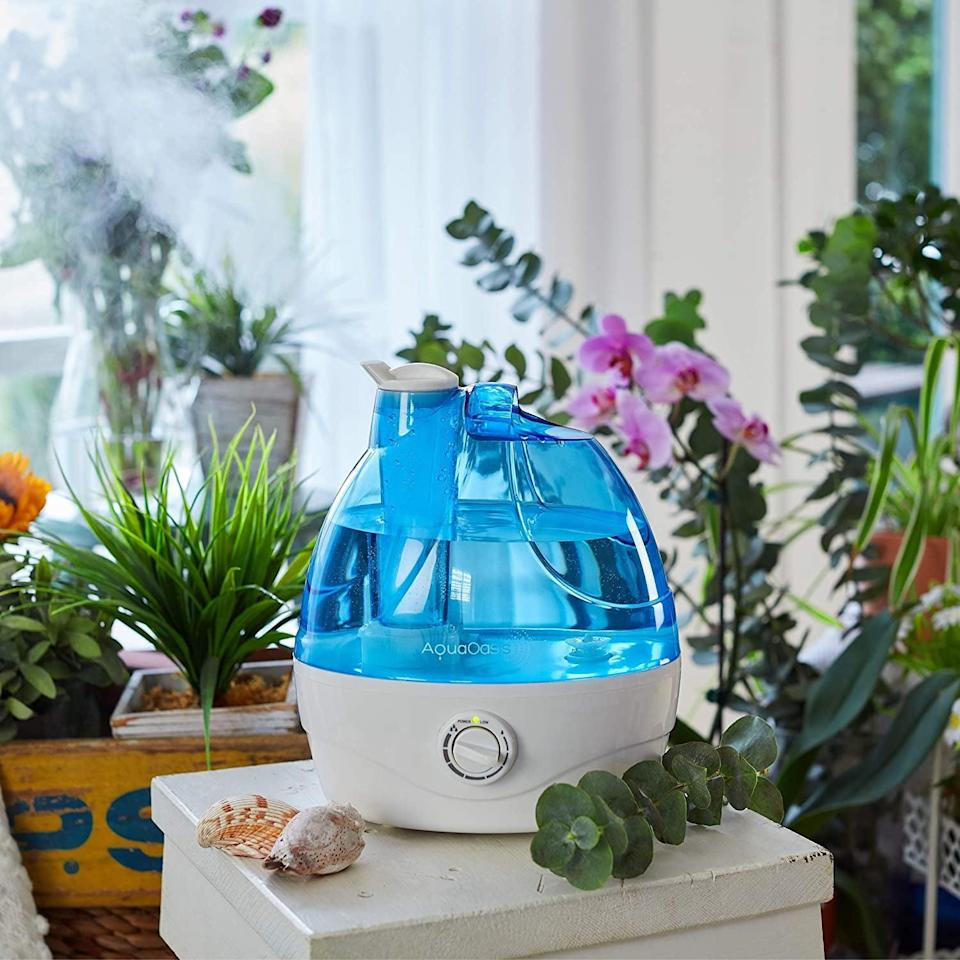 <p>If you live in a dry climate, the <span>AquaOasis Cool Mist Humidifier</span> ($30) is here to help keep your environment cool. </p>