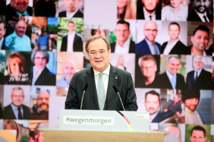 CDU party elects its new leader, in Berlin
