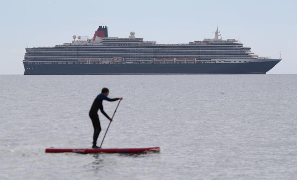Excursions on land might be off the cards but passengers could potentially get on the water with kayaks or stand-up paddleboards - ANDREW MATTHEWS