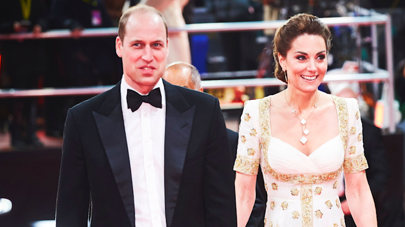 Prince William & Kate Middleton Had the Best Reaction to Brad Pitt's #Megxit Joke at the BAFTAs