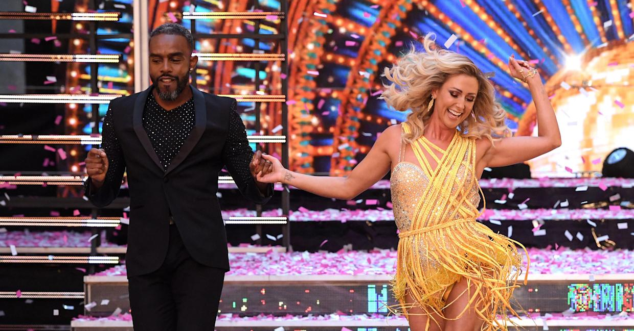 Faye Tozer and Charles Venn hit the Strictly dance floor (REX/Shutterstock).