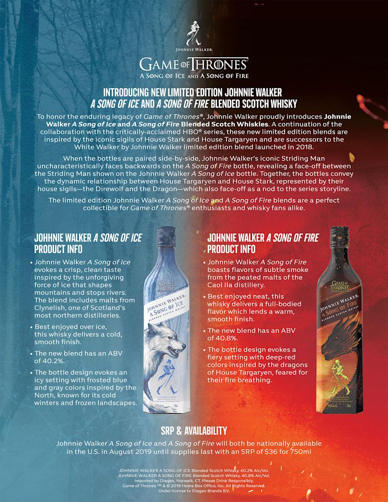 Learn more about Johnnie Walker A Song of Ice and A Song of Fire.