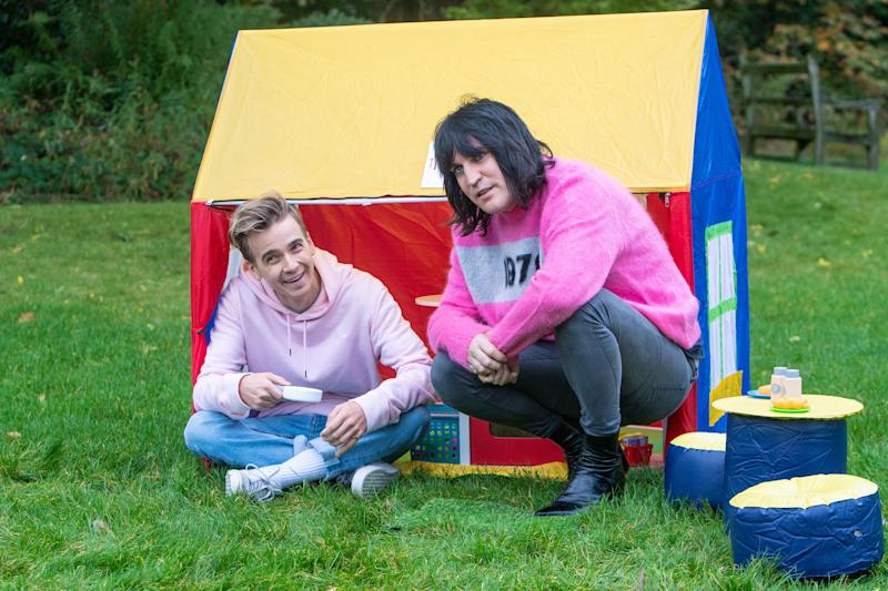 Joe Sugg caused a comotion in the tent on 'The Great Stand Up To Cancer Bake Off'.