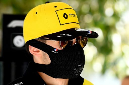 Renault's French driver Esteban Ocon was taking no chances as he arrived at Melbourne Park