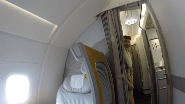 """<p>I was provided with a """"fast track pass"""" that allows First and Business Class passengers to go through a separate line for immigration. We landed in Auckland and I thanked the crew for a wonderful flight. <i>(Photo: Sam Huang)</i><br></p>"""