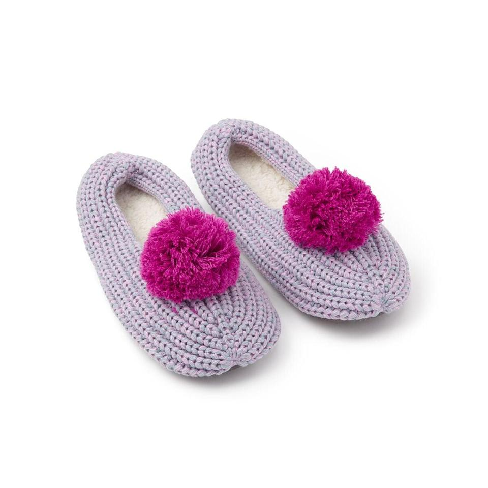 <p>Can these <span>Pommed Rib Slippers</span> ($38) get any cozier?</p>
