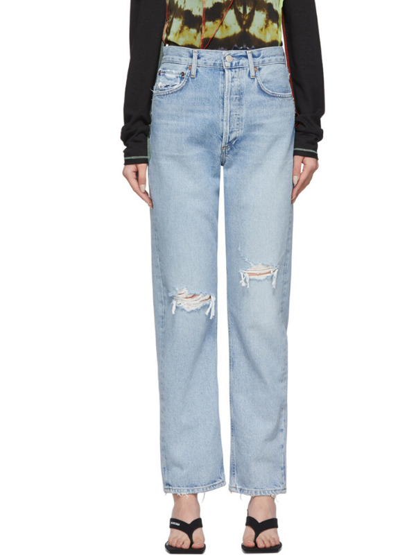 AGOLDE Blue 90s Loose Fit Jeans. Image via Ssense.