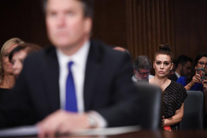 Alyssa Milano Supports Sexual Assault Survivors on Capitol Hill