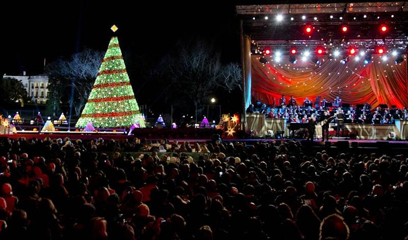 white house national christmas tree lighting 2015 time performers and how to live stream - White House Christmas Tree Lighting