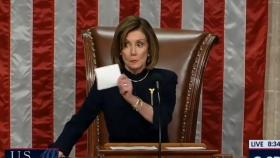 Watch: Pelosi shuts down Democrats cheering and taking selfies during impeachment vote